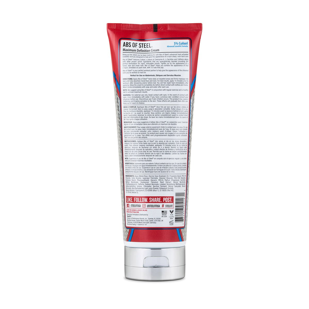 SteelFit Abs of Steel Maximum Definition Cream with 5% Coaxel, 8 fl oz (237ml). by SteelFit (Image #2)