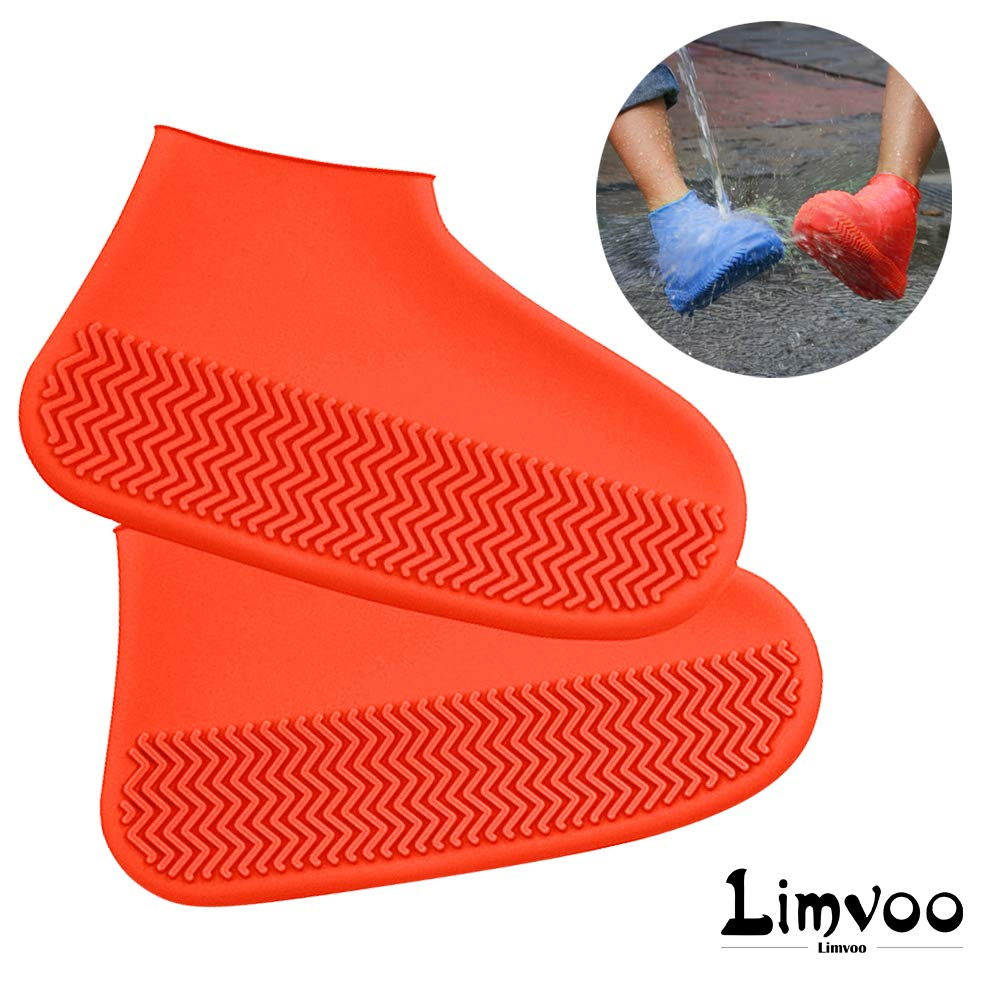 Limvoo Rain Shoes Boots Covers Outdoor Waterproof Silicone Shoes Covers and Reusable Rain Boots Overshoes Galoshes Travel for Men Women Kids