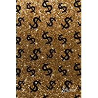 Journal: Faux gold glitter dollar sign notebook