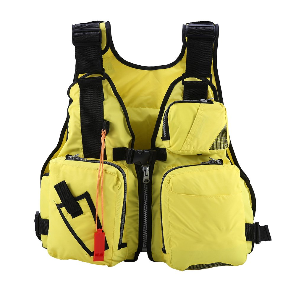 配送員設置 alomejorライフジャケット大人用軽量Drift Life Vest with B07FKD1VCY Adjustableベルトfor イエロー Sailingサーフィン、カヤック Life、およびその他の水スポーツ イエロー B07FKD1VCY, 大里郡:2d9e2df4 --- a0267596.xsph.ru