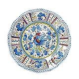 Le Cadeaux Rooster Dinner Plate, 11', Blue