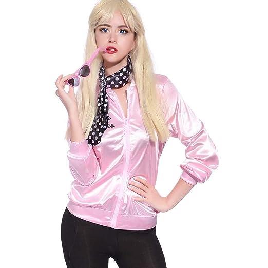 c4ebfddaa617a Amazon.com: Vintageplace23 Retro 1950s Pink Lady Jacket Fancy Dress ...