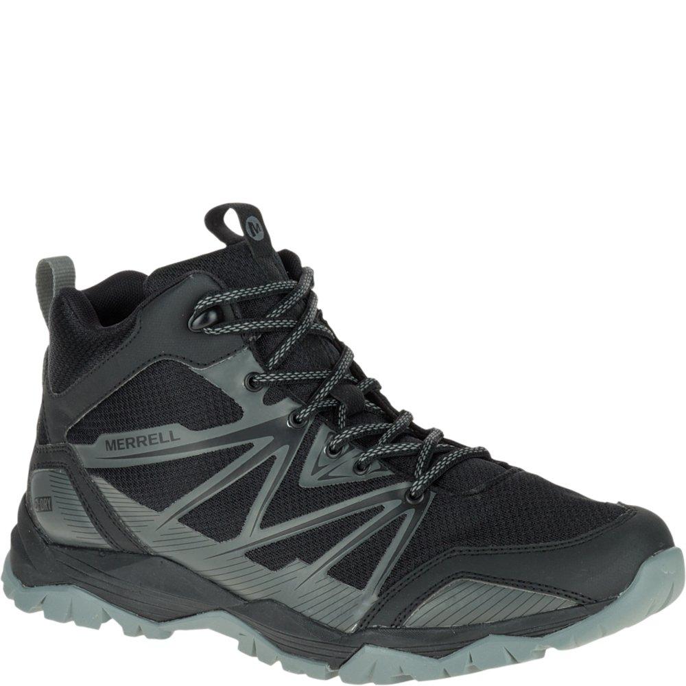 Merrell Men's Capra Rise Mid Waterproof Hiking Boot, Black, 10 M US