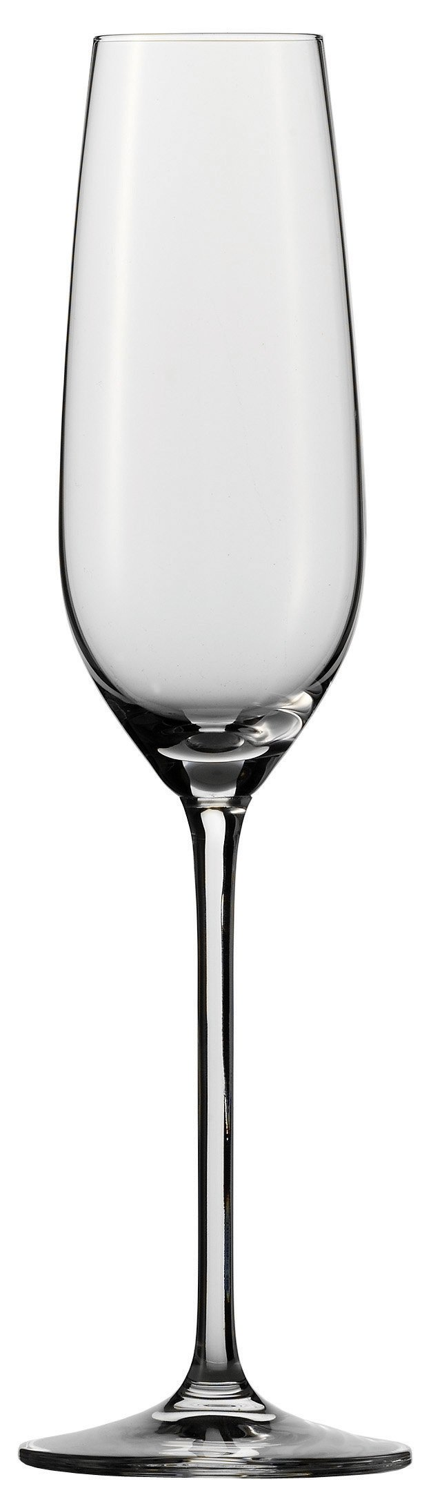 Schott Zwiesel Stemware Fortissimo Collection Tritan Crystal Champagne Flute Glass with Effervescence Points, 8.1-Ounce, Set of 6