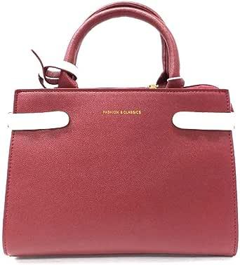 فاشن اند كلاسيكس حقيبة للنساء-احمر - حقائب بمقبض علوي