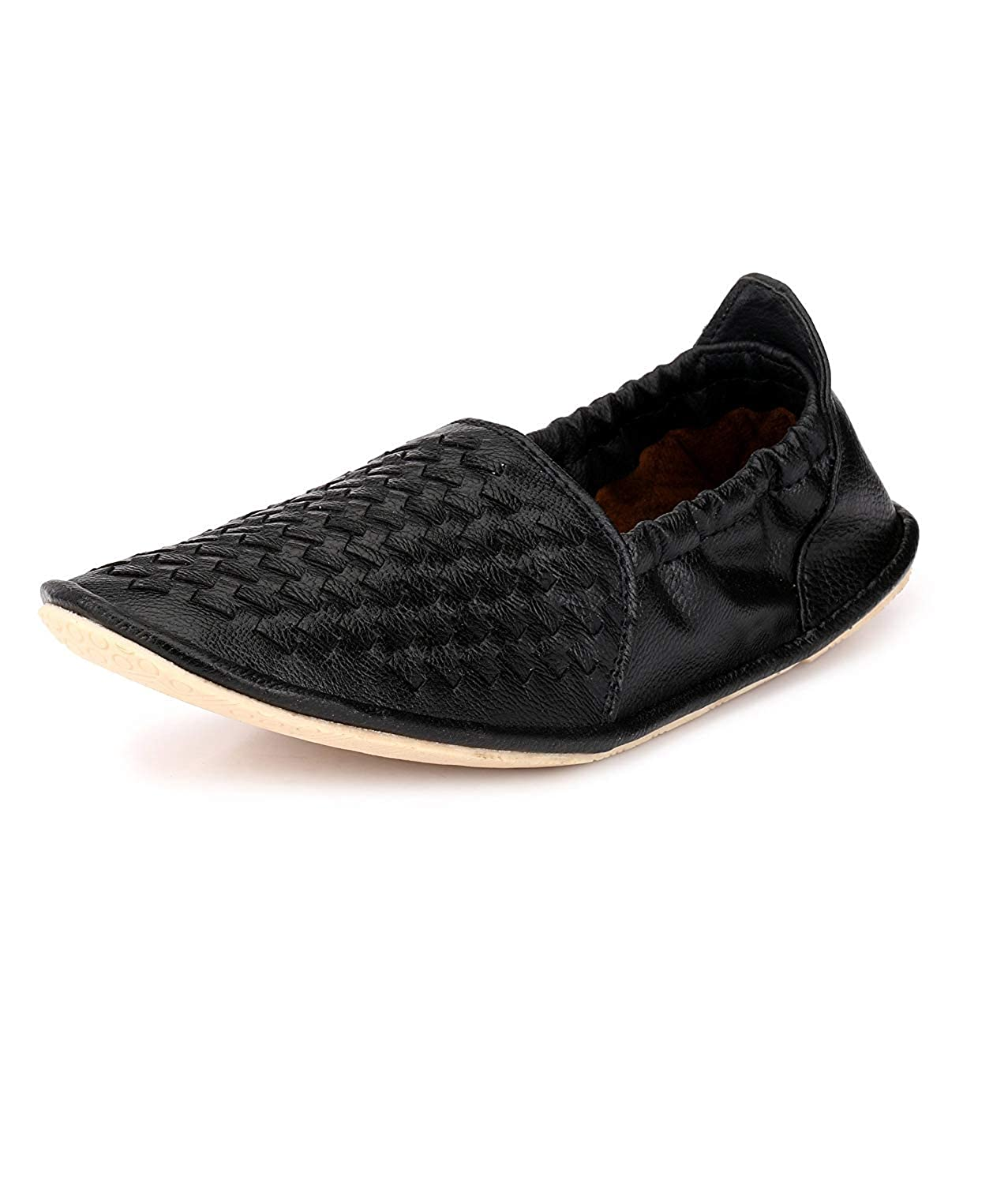 5f77df170b0 Shoe Fab Men s Synthetic Casual Loafers Ultra Flexible Loafers for Men  Formal Leather Loafers Driving Shoes Knockout Loafers for Men s Black  Buy  Online at ...