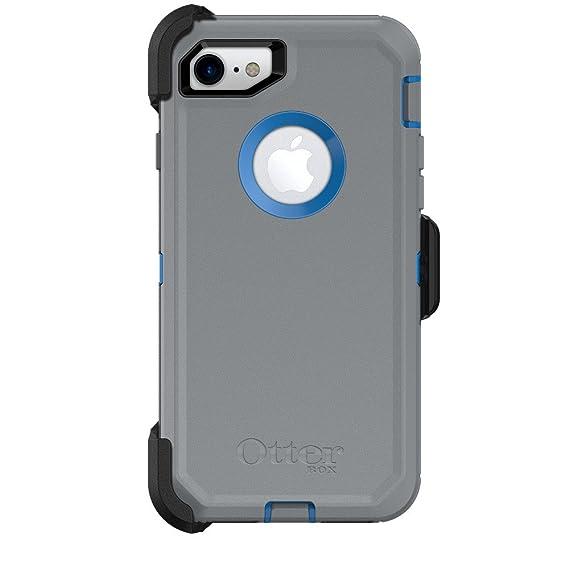 best website 3e624 6344d OtterBox Defender Series Case & Holster for Apple iPhone 7 (ONLY) -  Marathoner (Cowabunga Blue/Gunmetal Gray) (Certified Refurbished)