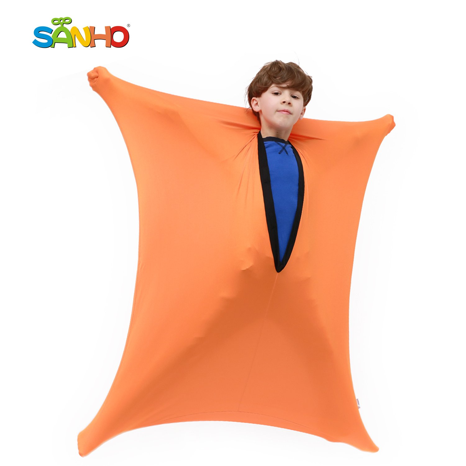 Sanho Yopo Dynamic Movement Sensory Sox, Medium,6-9 years old, 47''LX27''W Orange by Sanho Yopo (Image #1)
