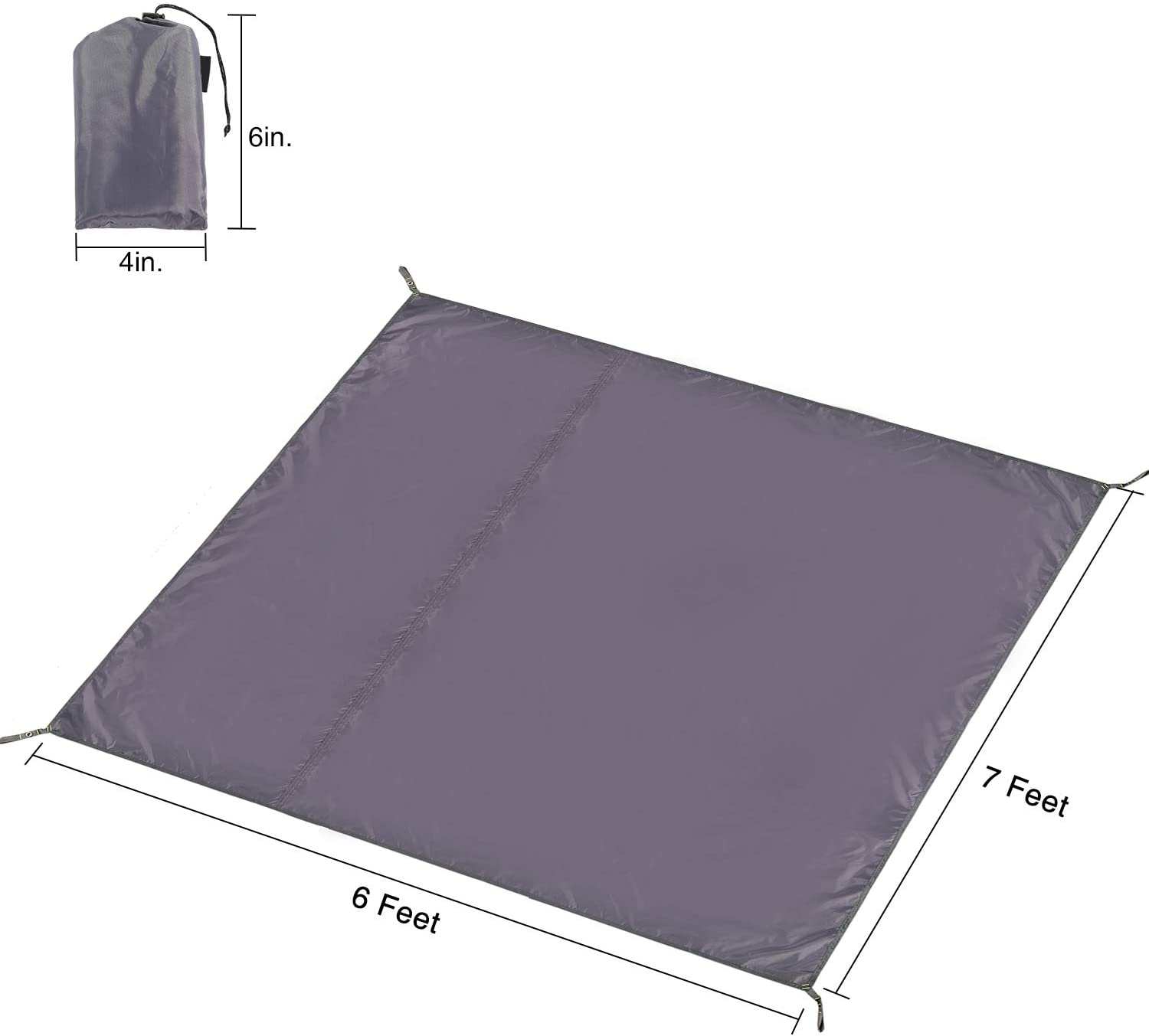 CAMPMOON Waterpfoof Camping Tarps 5x7//6x7//7x7//8x7 Feet Large Oxford 4 in 1 Tent Footprints Ultralight Compact Ground Cloth for Camping Backpacking
