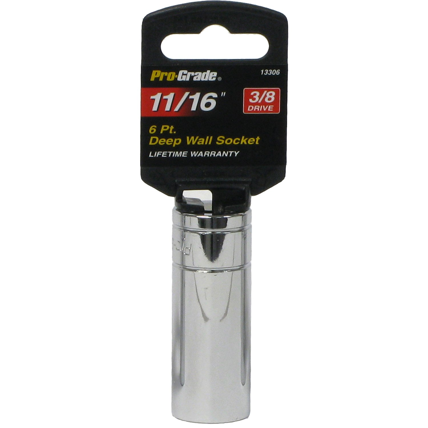 Pro-Grade 13323 3//8-Inch Drive with 6 Point Deep 1//2-Inch Impact Socket