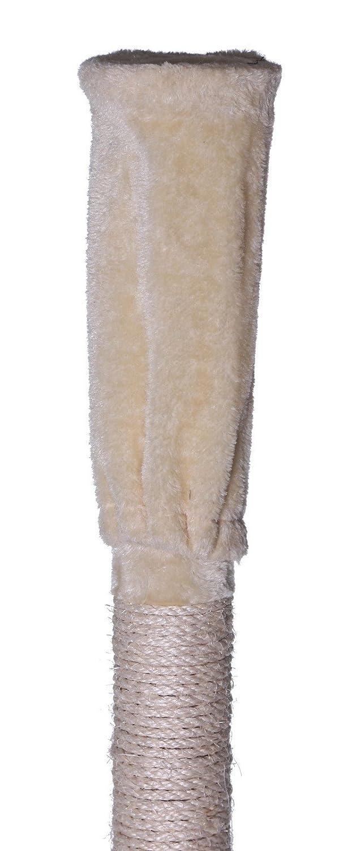 240-260 cm Dibea KB00406 /Árbol Rascador Escalador para Gatos Altura Ajustable del Techo Marr/ón y Beige