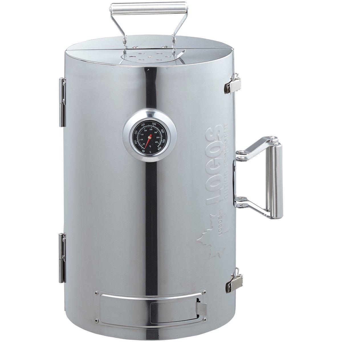 ロゴス(LOGOS) スモーカー LOGOSの森林 スモークタワー 燻煙器 円筒型 180度開閉タイプ 熱源不要 B00RIID2CA