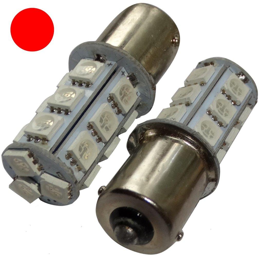Aerzetix: 2x ampoule P21W R5W R10W 12V 18LED SMD rouge base 1156 SK2-C14064-AE50 x2