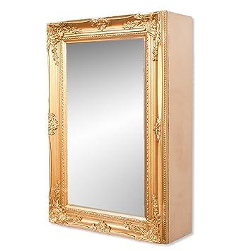 Spiegelschrank BEATRICE 60x40cm Badezimmer Schrank barock-gold ...