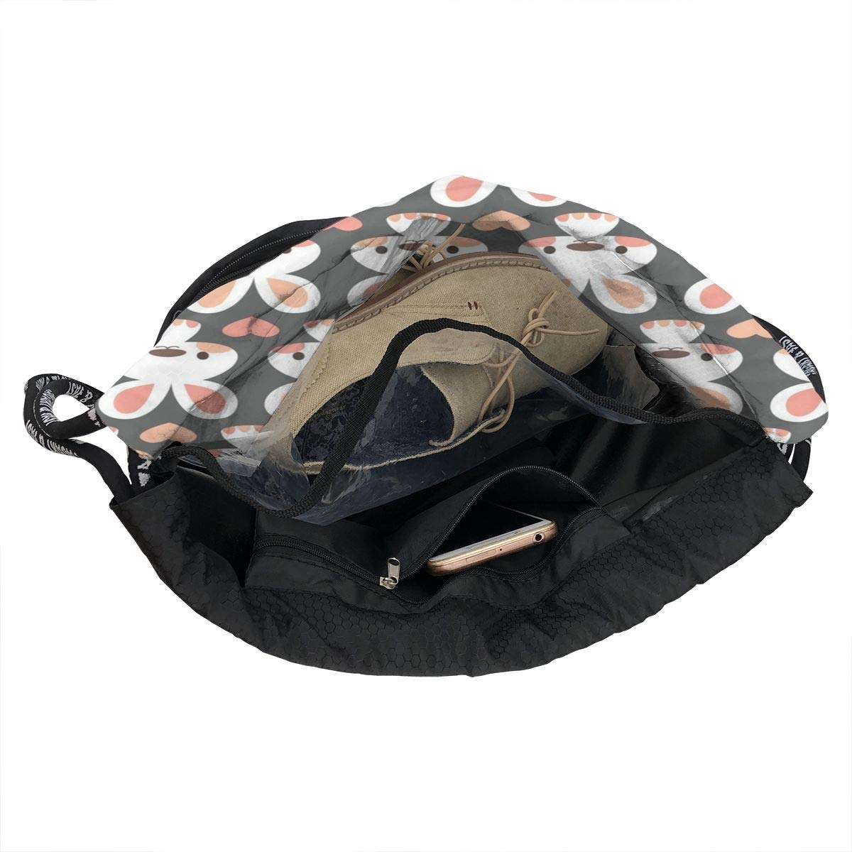 Cute Little Bunnies Multifunctional Bundle Backpack Shoulder Bag For Men And Women