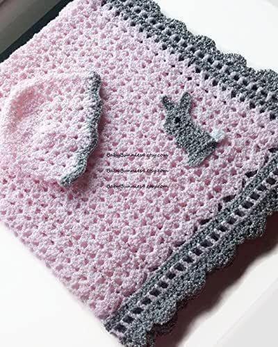 Crocheted Graceful Baby Blanket