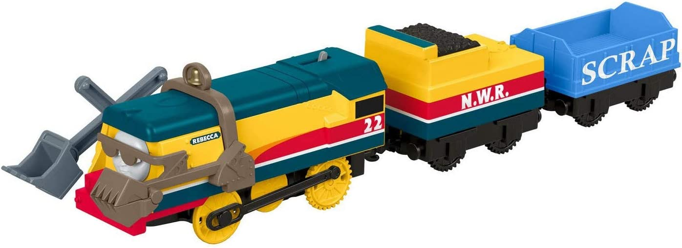 Thomas and Friends Train Rebecca Motorized Trackmaster Yellow Fisher Price