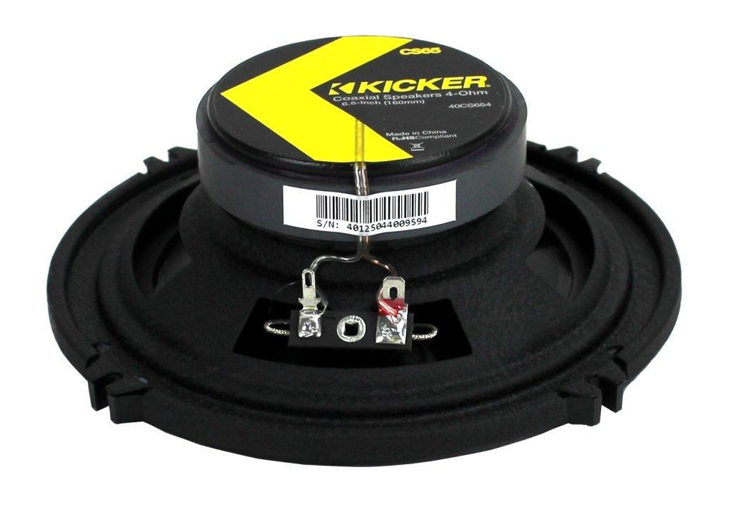 4 Pack Kicker 40CS654 6.5-Inch 600W 2-Way Coaxial CS Series Speakers