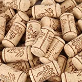 Premium Natural Wine Corks, Natural Cork Stopper, Soft Wood Wine Corks Crafts Replacement Corks Pack of 100 Pcs for Wine