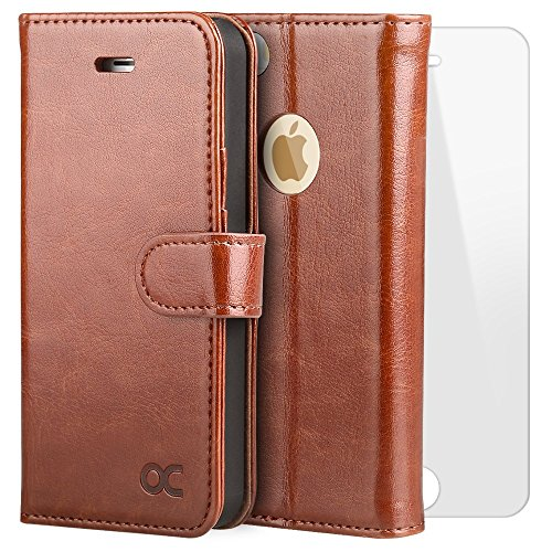 OCASE Leather Wallet Screen Protector