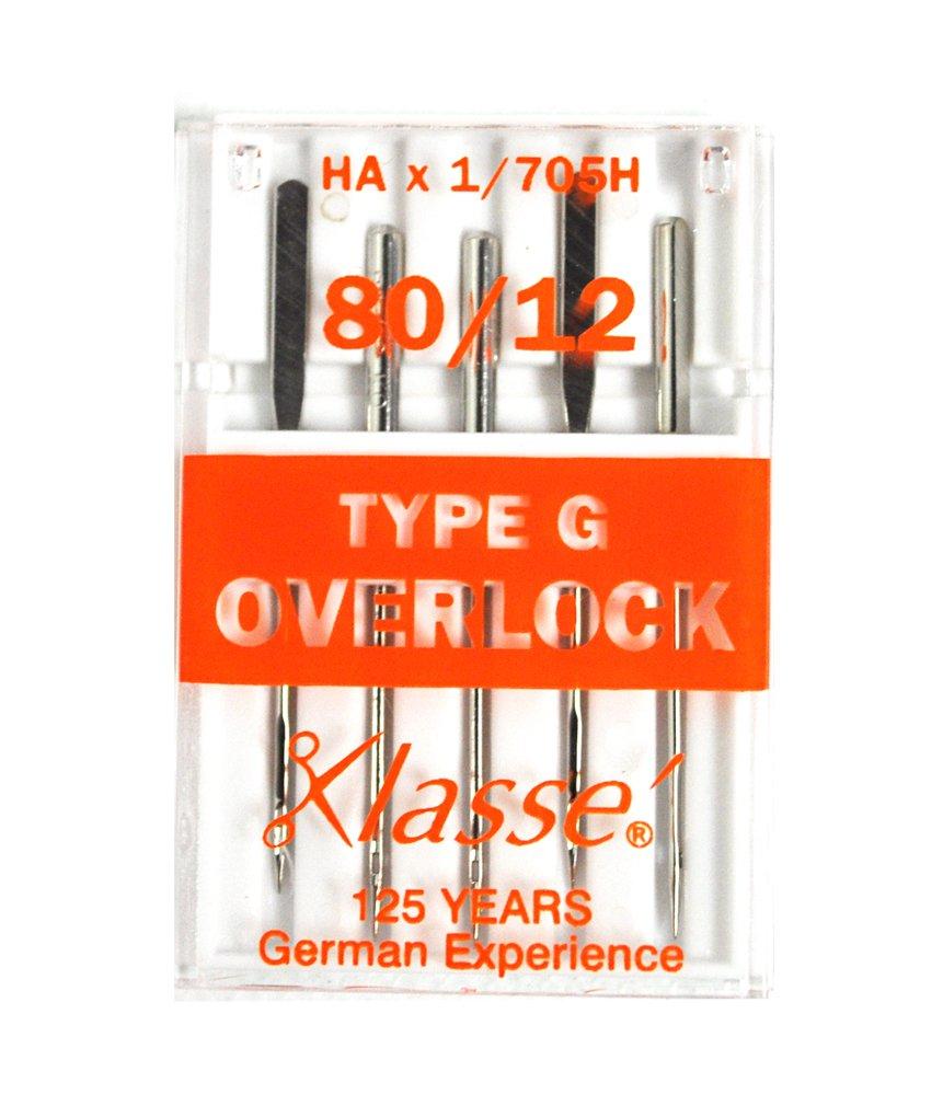Klasse Serger Type G Overlock Size 80/12 Needles 5 Pack by Klasse   B00YQ0BNNS