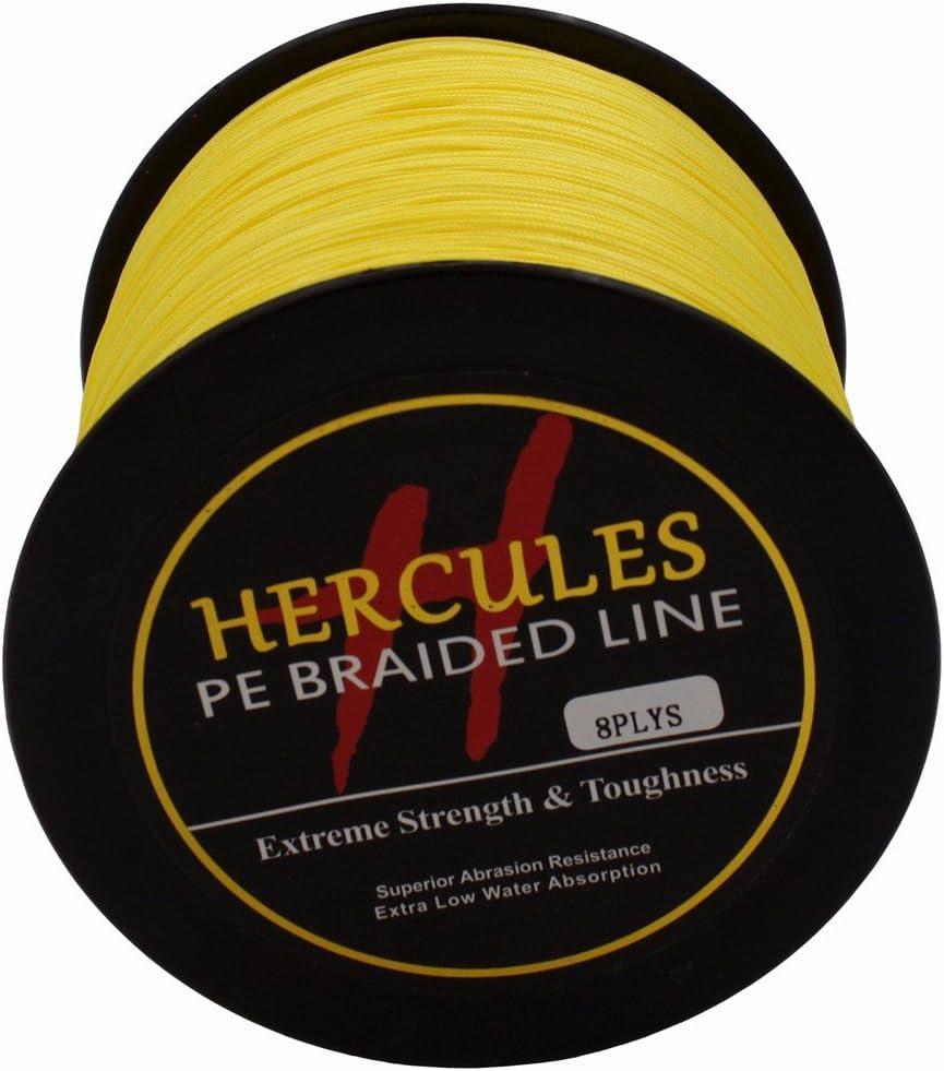 8-Fach Hercules PE Dyneema Superline geflochtene Angelschnur 2000/m 1640yds 10lb-200lb