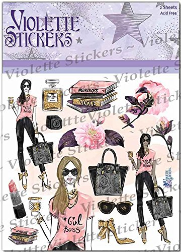 Violette Stickers Girl Boss