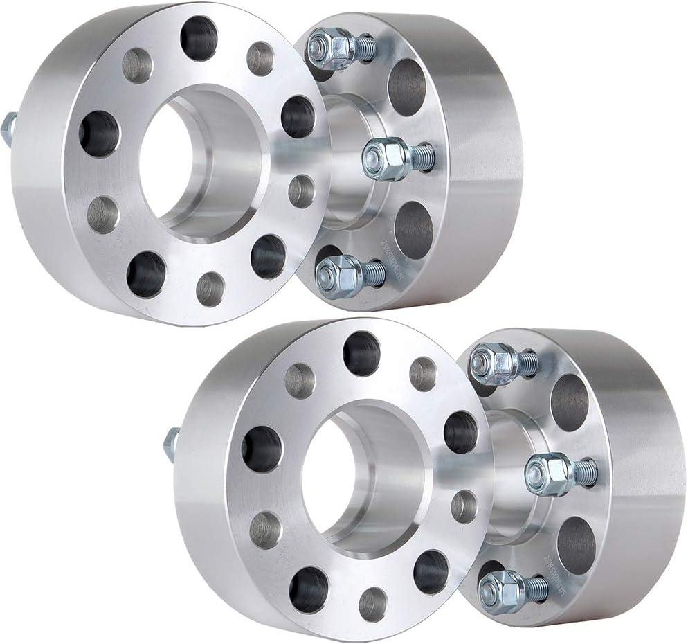 ECCPP 4x 5 lug Wheel Spacers Hubcentric 5x4.75 to 5x4.75 3 Wheel Adapter 5 Lug Fits for Chevrolet GMC Pontiac Chevy Blazer Cadillac XLR 4X 12x1.5 Studs