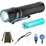 OLIGHT(オーライト) Baton Pro 懐中電灯 2000ルーメン フラッシュライト ハンディライト 充電式 アウトドア 屋内 18650電池 XHP50 V.2-COOL-WHITE LED