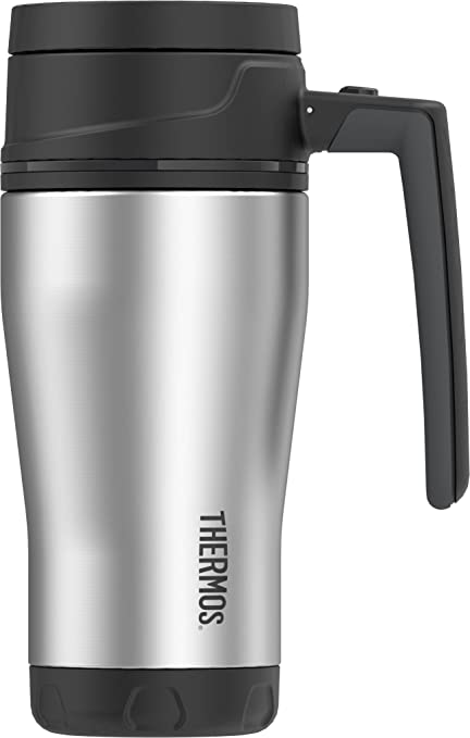 4b5e3807bfa Thermos ELEMENT5 16 Ounce Vacuum Insulated Stainless Steel Travel Mug,  Black/Gray