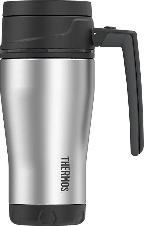db42e8c1f93 Amazon.com: Thermos ELEMENT5 16 Ounce Vacuum Insulated Stainless Steel  Travel Mug, Black/Gray: Kitchen & Dining