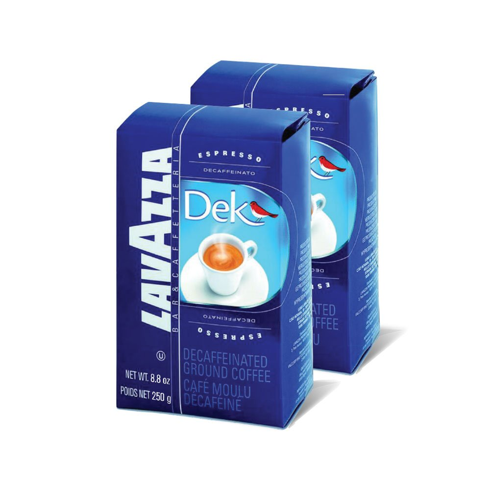 Amazon.com : Lavazza Dek Ground Coffee Blend, Decaffeinated Dark Espresso Roast, 8.8-Ounce Bags (Pack of 2) : Ground Coffee : Grocery & Gourmet Food