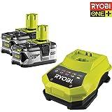 Ryobi RBC18LL40-Pack Chargeur-1 h 2 batteries 18 V 4,0Ah Lítio-Ion