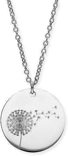URBANHELDEN Damen Kette mit rundem Motiv Anhänger Hals Kette Amulett Edelstahl Gravur Schmuck mit verschiedenen Farben & Motiven erhältlich