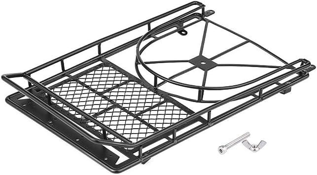 Dilwe Rc Dachgepäckträger Metall Gepäckträger Für D90 Scx10 Jeep Rc Crawler Car Modellfahrzeug Zubehör Spielzeug