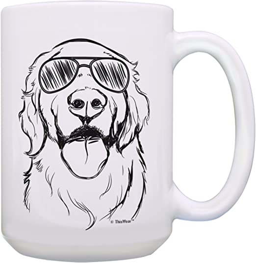 Coffee Mug Tea Cup Gift Color Changing Golden Retriever Coffee Mug