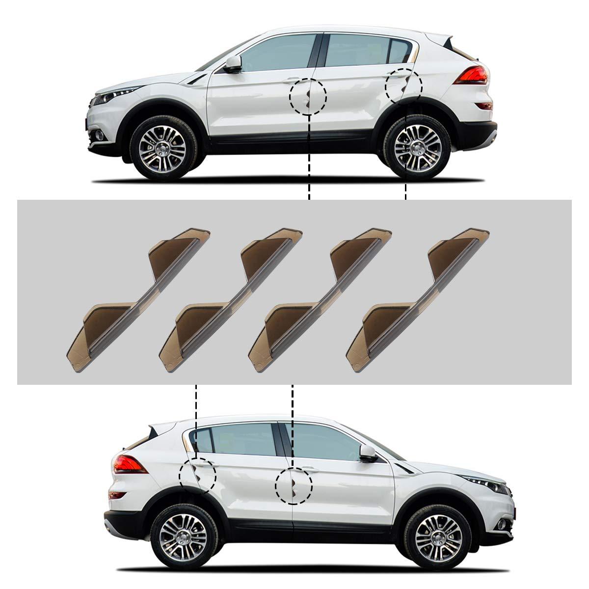 SENZEAL Guarnizione Porta Auto Striscia Paracolpi Gomma Bordo Auto Striscia Protettore Bordo della Porta con Strisce Adesive 4 Pz Trasparente