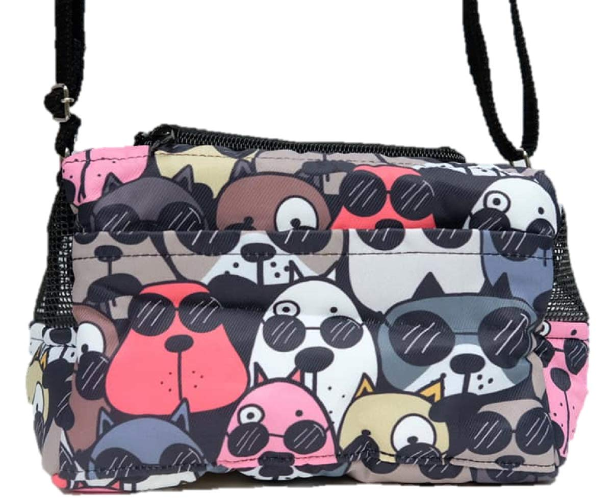 HOT! Small Size Cute Travel/Portable Can and Dog Printed Fox Screen Sugar Glider Marmoset Bird Hamster Squirrel Chinchillas Small Pet Travel Cage Shoulder Bag Comfort Carrier by Polar Bear's Republic by Polar Bear's Pet Shop