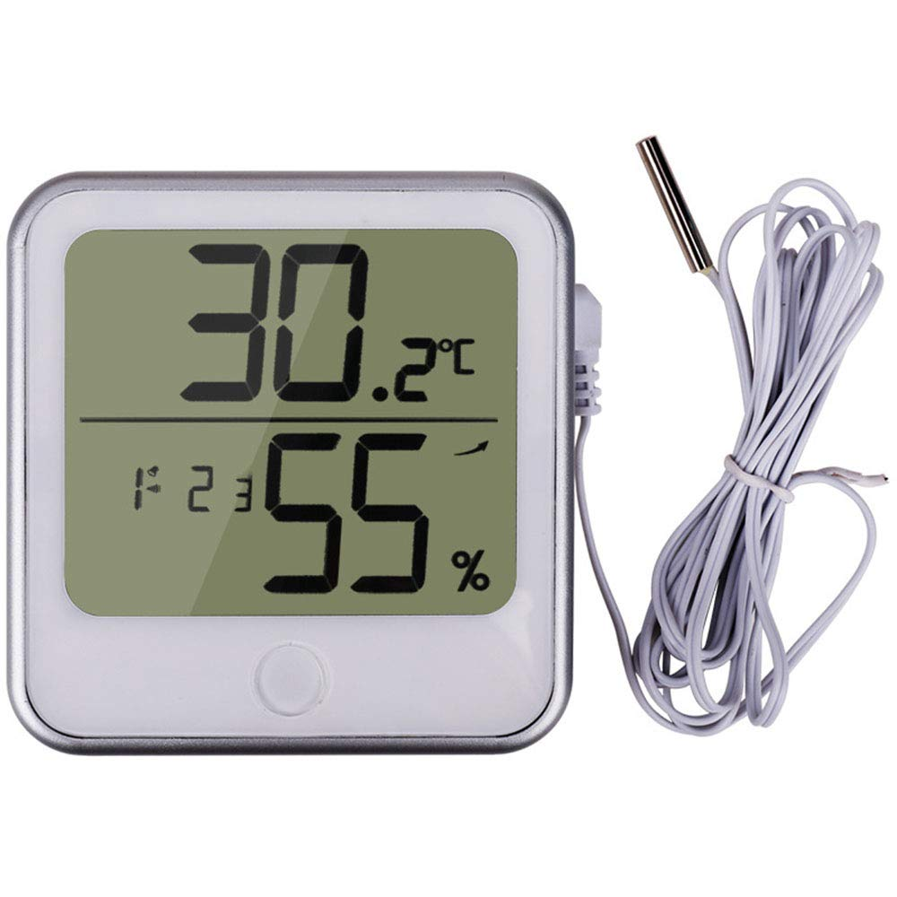 Lrxhy Indoor Thermometer, Household Thermometer Hygrometer Office Indoor Alarm Clock Hygrometer Portable Thermometer Hygrometer