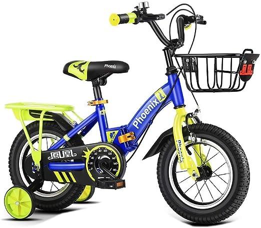 AJZGF Bicicletas niños Amortiguadores de Bicicleta Plegables for ...
