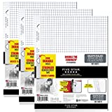 Five Star Loose Leaf Paper, 3 Hole Punched, Reinforced Filler Paper, Graph Ruled, 11'' x 8-1/2'', 100 Sheets/Pack, 3 Pack (38034)