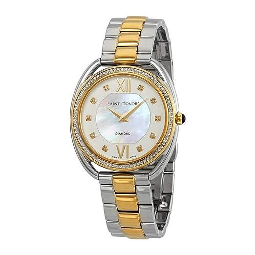 San Honor Charisma Madre de Perla Diamante Dial Ladies Reloj de Dos Tonos 721123 4YADT: Amazon.es: Relojes