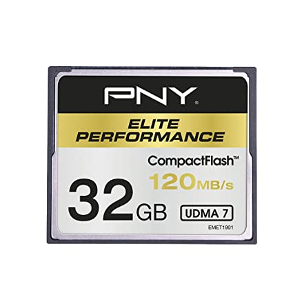 PNY CF Elite Performance Memoria Flash 32 GB CompactFlash - Tarjeta de Memoria (32 GB, CompactFlash, 100 MB/s)
