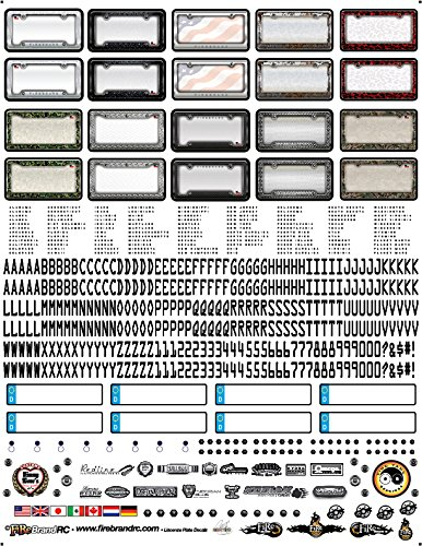 FireBrand RC /• License Plate Decal Sheet