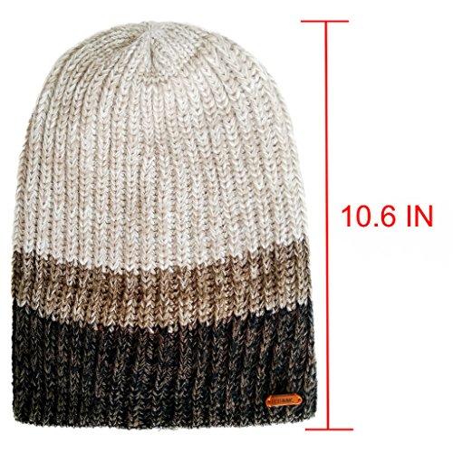 1185ba6c052ce LETHMIK Unique Winter Skull Beanie Mix Knit Slouchy Hat Ski Cap for Men    Women