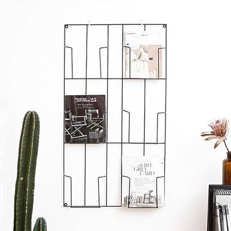 Yxx max Porte-revues Porte-revues Mural en m/étal mont/é sur Un Support Mural en Papier Journal for /étag/ère de d/écoration Murale de caf/é Bar
