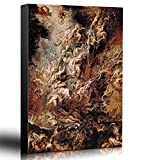 Wall26 - Oil Painting of ''Fall Of The Rebel Angels'' by Peter Paul Rubens - Baroque Style - Hell, Heaven, Catholic, Christianity - Canvas Art Home Decor - 16x24 inches