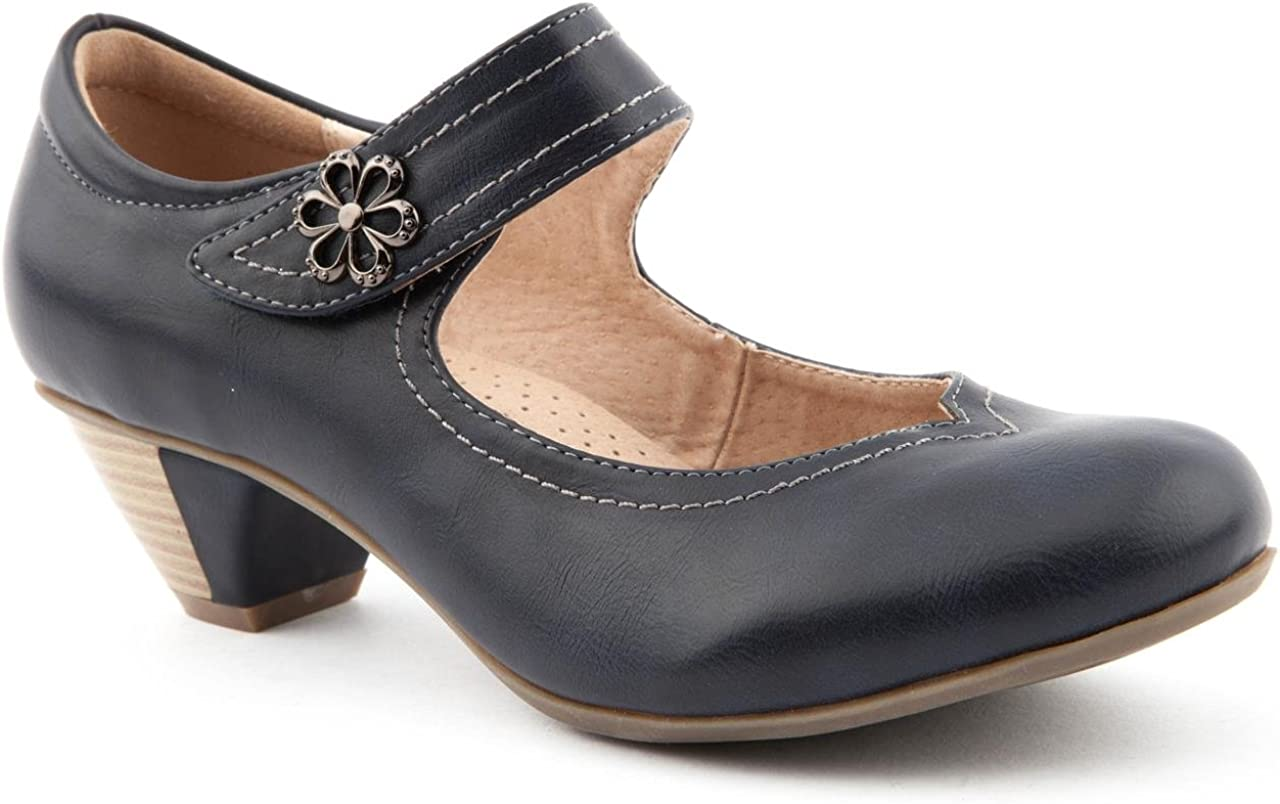Caravelle Ladies wf Lucy Navy Mary Jane