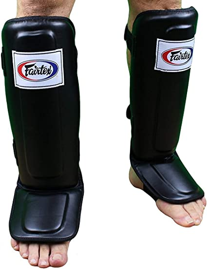 Fairtex Shin pads SP3 In Step Double Padded  Muay Thai Boxing MMA Shin Protector