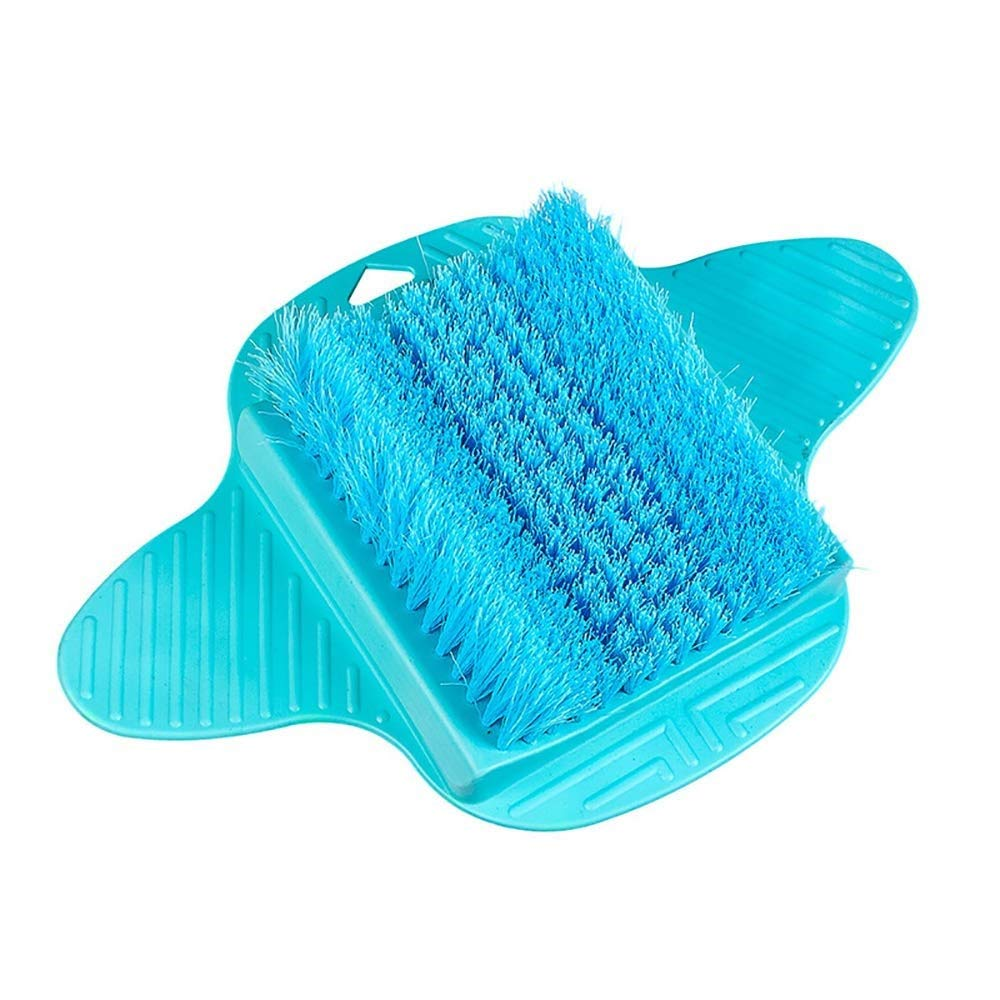 Yafang Foot Scrubber Brush, Feet Massager SPA Cleaner with Non-Slip Suction Cups Firm Bristles, Provides Foot Circulation, Foot Spa, Exfoliation, Acupressure Mat (Color : Blue) by Yafang